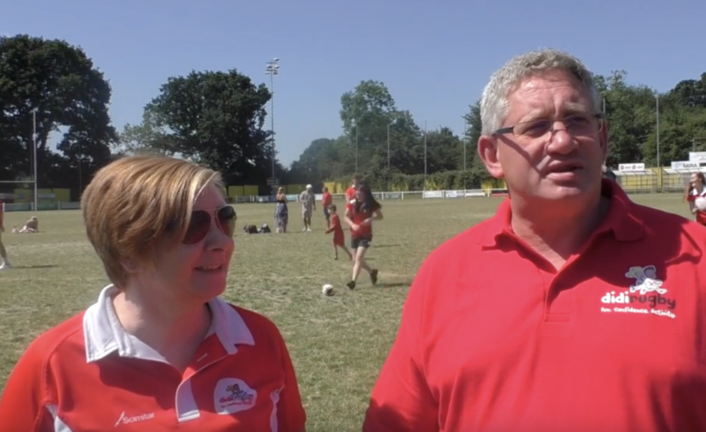 didi rugby Reading franchise owners Donna Clark and Craig Hunter coach at Aldermaston RFC