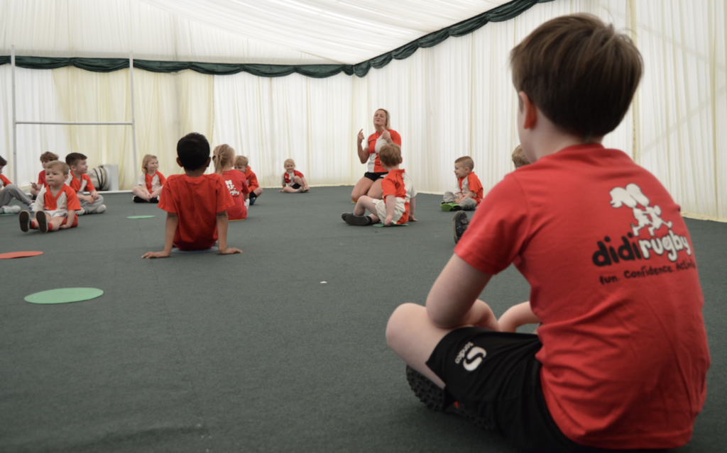 Children enjoy a didi rugby class ahead of the launch of didi rugby Grantham at Kesteven Rugby Club