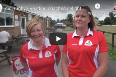 Two didi female coaches speak to the camera at Reading RFC