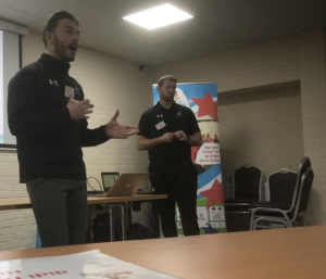 Acti-Fit director Ellis Bailey speaks at the didi rugby Conference