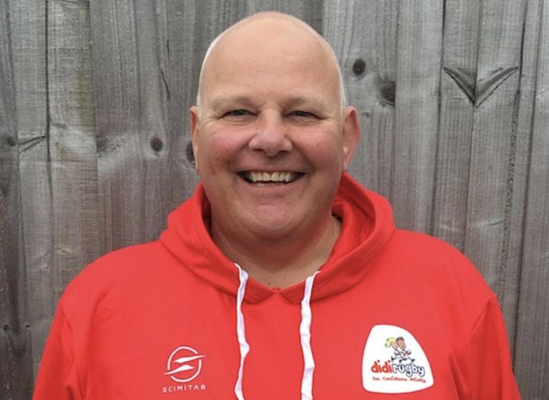 Mike Barnett wearing a didi rugby hoodie