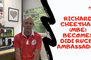 didi ambassador Richard Cheetham wearing a didi rugby shirt