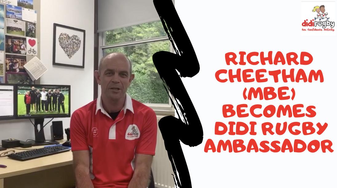 didi ambassador Richard Cheetham wearing a didi rugby shirt
