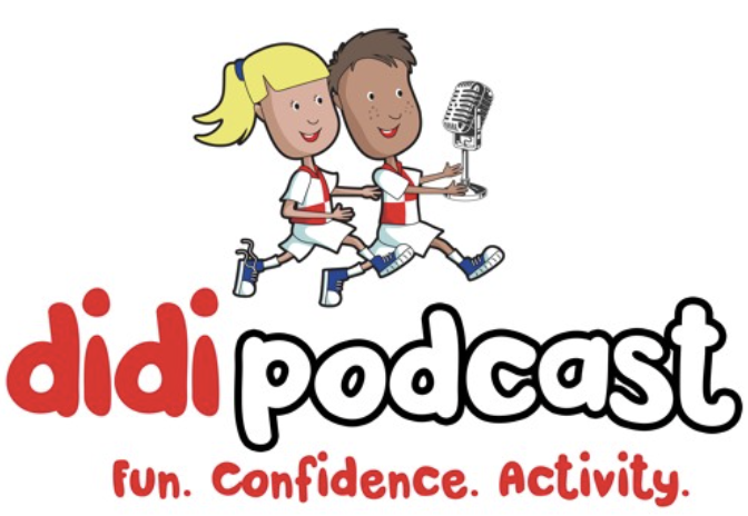 didi podcast logo featuring mascots dougie and daisy