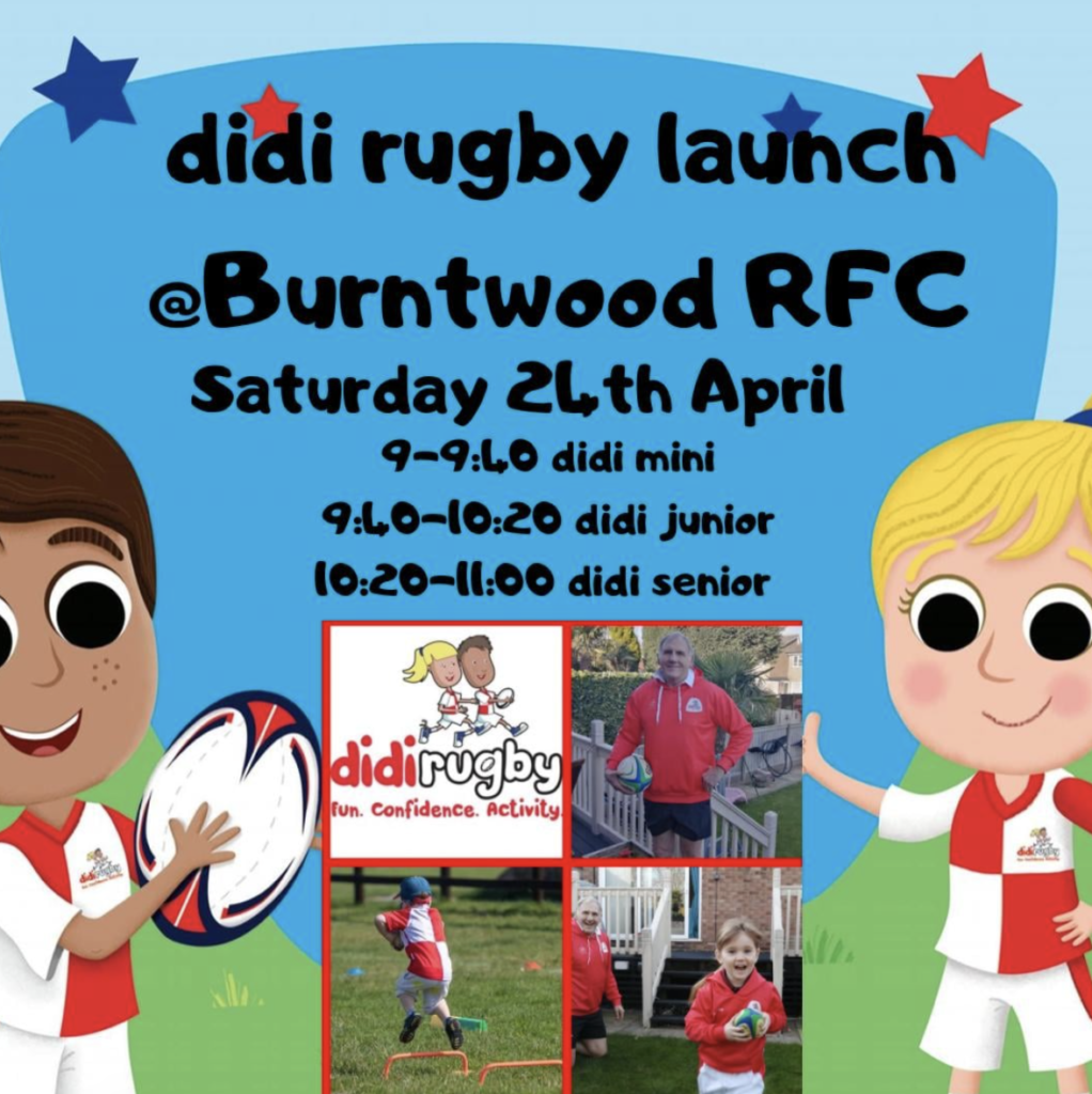 A graphic for the launch of didi rugby Burntwood